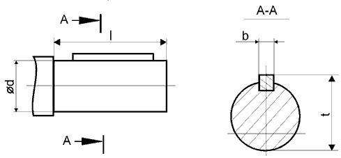 Цилиндрический вал редуктора Ц2У-100