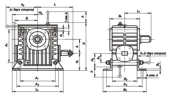 размеры редуктора РЧУ-40а